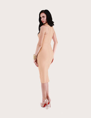 Load image into Gallery viewer, Dominique Turtleneck Bandage Dress