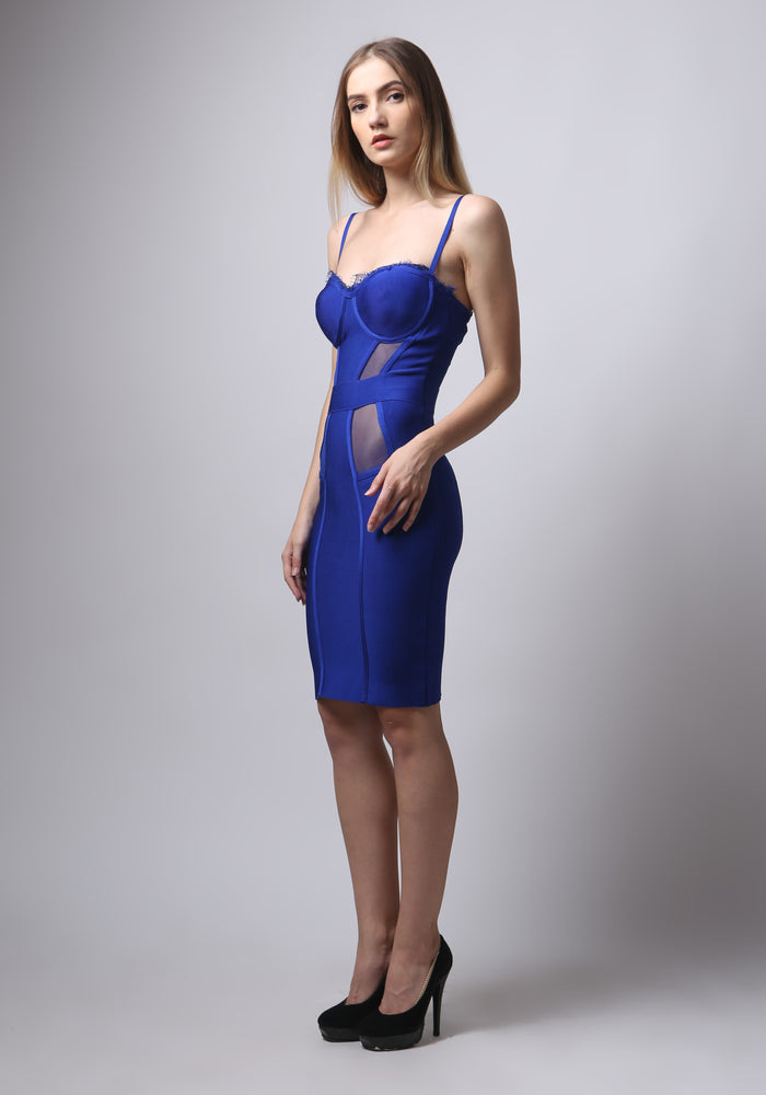 Load image into Gallery viewer, Celine Lace Bandage Dress