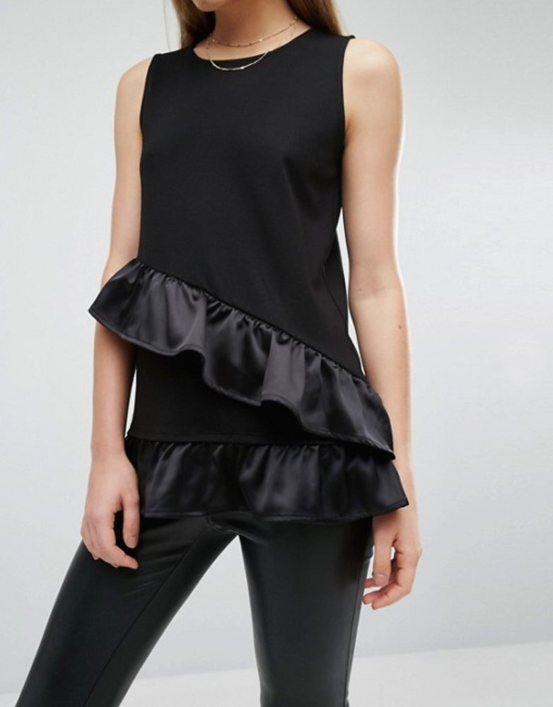 Load image into Gallery viewer, WAREHOUSE SATIN ASYMMETRIC ORIGINAL UK BRANDED TOP