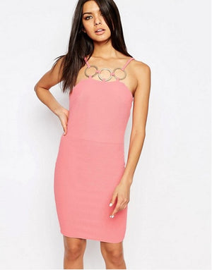 Load image into Gallery viewer, CLUB L RING DETAIL CREPE ORIGINAL UK BRANDED DRESS