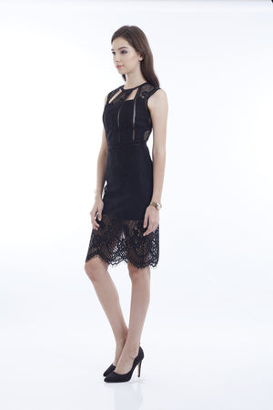 GRACE BLACK SEXY LACEY DRESS