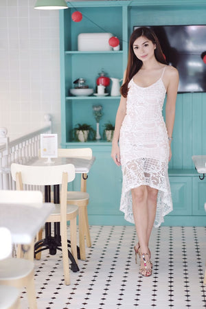 CLARA WHITE MERMAID LACEY DRESS