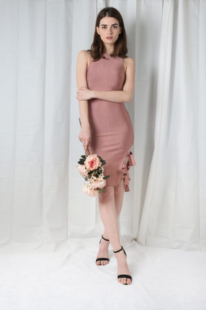 CARMEL PINK BANDAGE DRESS