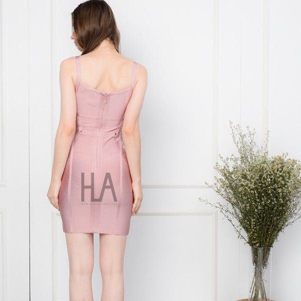 Load image into Gallery viewer, HAVANA PINK SEXY LINE DRESS