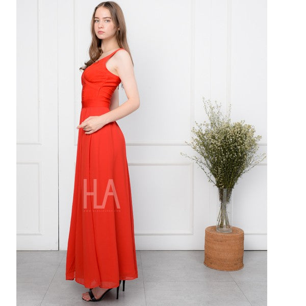 PARIS RED BANDAGE LONGDRESS