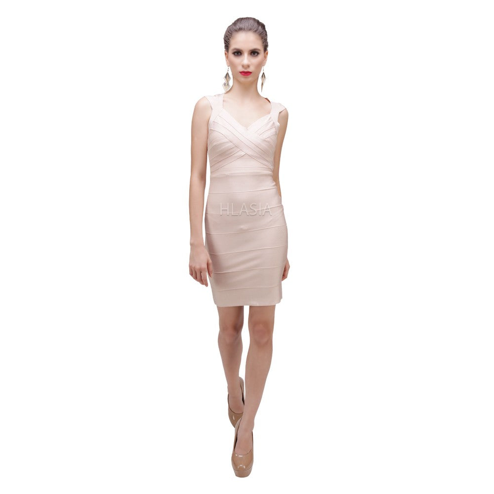 SARAI NUDE SIGNATURE BANDAGE DRESS