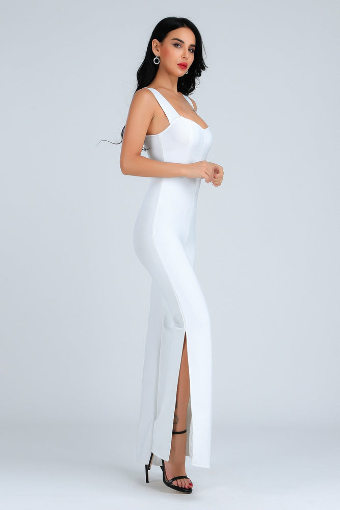 Load image into Gallery viewer, CAMARA STRAPPY SLEEVES BANDAGE JUMPSUIT