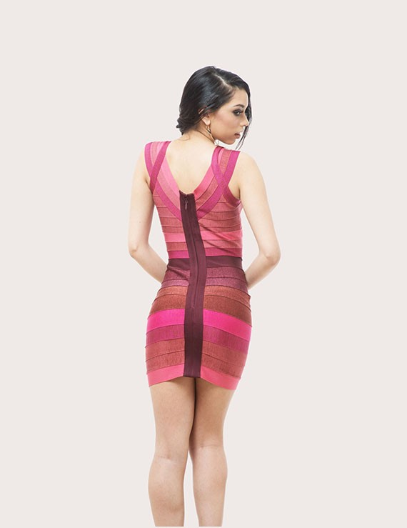 Ilia Ombre Bandage Dress