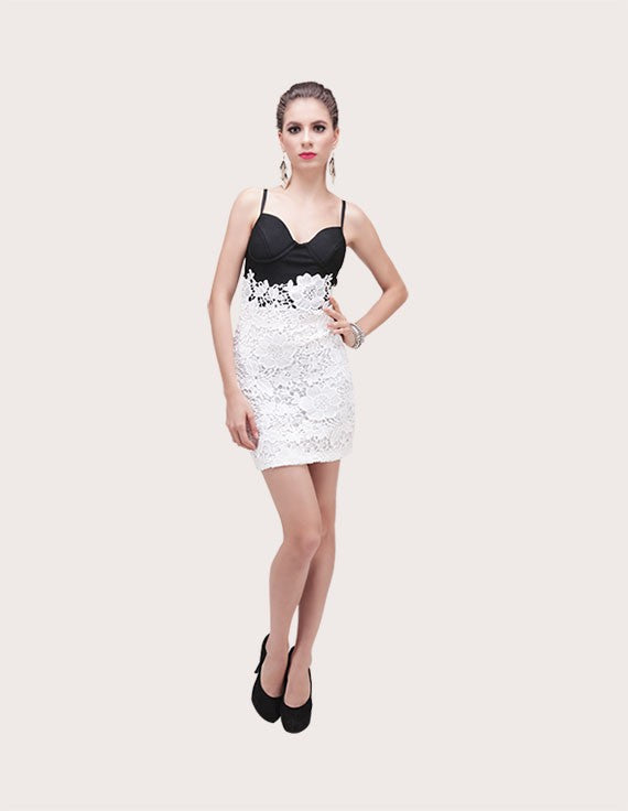 Sophia Brocade Bandage Dress