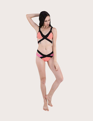 Cutout Two Piece Swimsuit
