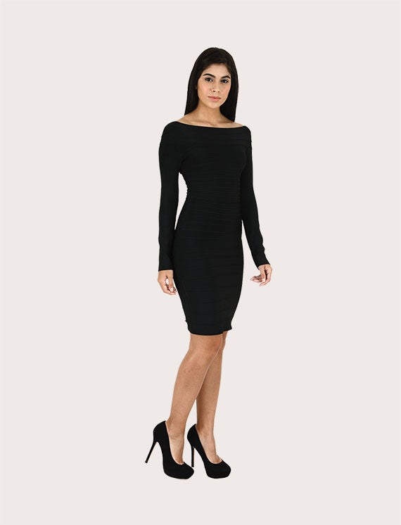 Load image into Gallery viewer, Avril Signature Long Sleeves Bandage Dress