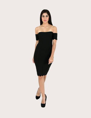 Ciara Black Mini Bandage Dress