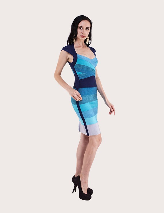 Load image into Gallery viewer, Sasha Gradient Bandage Dress
