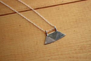 Silver Hatch Tuareg Pendant Necklace