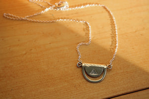 Silver Crescent Tuareg Pendant Necklace