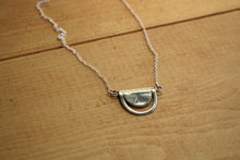 Load image into Gallery viewer, Silver Crescent Tuareg Pendant Necklace