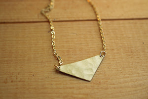 Hammered Triangle Pendant Necklace