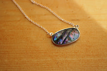 Load image into Gallery viewer, Upcycled Abalone Shell Pendant Necklace