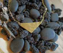Load image into Gallery viewer, Hammered Triangle Pendant Necklace