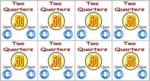 "8 Pack 50¢ PRICE Stickers for Vending Candy Labels Machines 2"" x 2"""