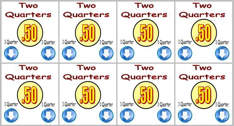 8 Pack 50¢ PRICE Stickers for Vending Candy Labels Machines 2