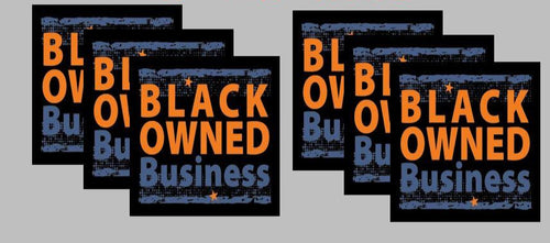 black ownes business label stickers vending