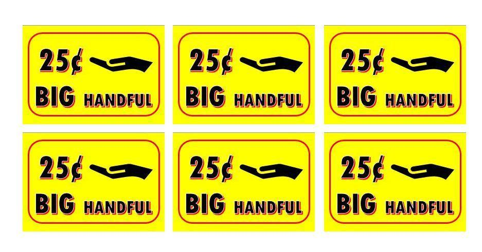 6 Pack BIG HANDFUL PRICE Stickers for Vending Candy Labels Machines 2