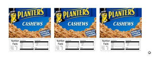"3 PACK Cashews 2.5"" x 2.5"" Candy Vending Labels Sticker NUTRITION"