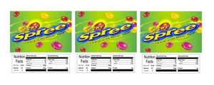 "3 PACK Chewy Spree 2.5"" x 2.5"" Candy Vending Labels Sticker NUTRITION"