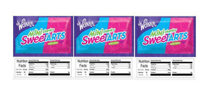 "3 PACK Chewy Sweet Tarts 2.5"" x 2.5"" Candy Vending Labels Sticker NUTRITION"