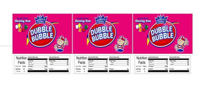 "3 PACK Dubble Bubble Tab Gum 2.5"" x 2.5"" Candy Vending Labels Sticker NUTRITION"
