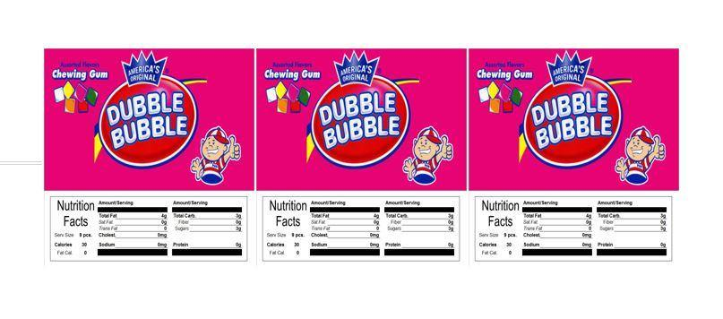 3 PACK Dubble Bubble Tab Gum 2.5