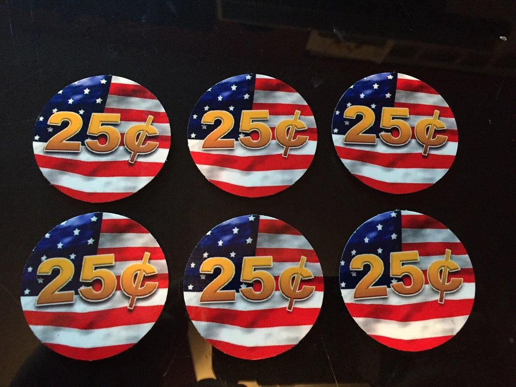 6 Pack FLAG PRICE Stickers for Vending Candy Labels Machines 2