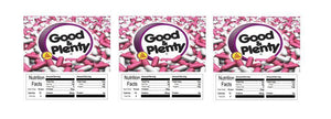 "Good & Pleanty 2.5"" x 2.5"" Candy Vending Labels Sticker NUTRITION"