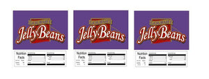"3 PACK Gourmet Jelly Beans 2.5"" x 2.5"" Candy Vending Labels Sticker NUTRITION"