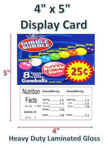 "gumball 4 x 5"" with price display card"