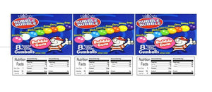 "Gumballs 2.5"" x 2.5"" Candy Vending Labels Sticker NUTRITION"