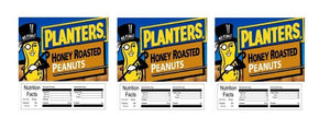 "3 PACK Honey Roasted Peanuts 2.5"" x 2.5"" Candy Vending Labels Sticker NUTRITION"