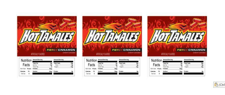 hot tamales candy machine labels stickers vending