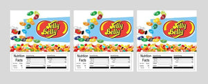 "3 PACK Jelly Belly Beans 2.5"" x 2.5"" Candy Vending Labels Sticker NUTRITION"