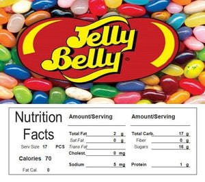 jellly belly beans candy Vending machine labels sticker