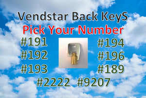 Vendstar BACK KEY Replacement - Vending Labels