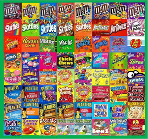 Laminated (non adhesive) Vending Candy Label Sticker Mix & Match