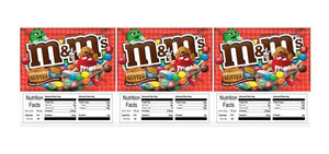 "3 PACK M&M Peanut Better 2.5"" x 2.5"" Candy Vending Labels Sticker NUTRITION"