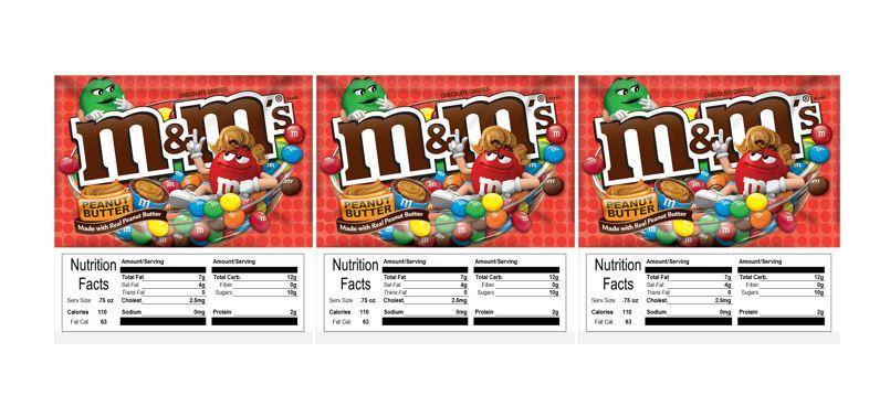 3 PACK M&M Peanut Better 2.5