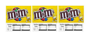 "3 PACK M&M Peanut 2.5"" x 2.5"" Candy Vending Labels Sticker NUTRITION"