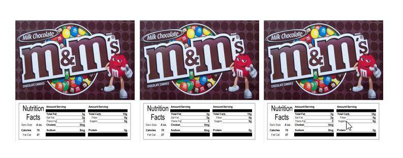 3 PACK M&M Plain 2.5