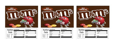 mm plain candy vending machine labels stickers