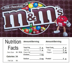 mm plain candy vending machine sticker label