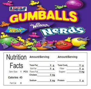 nerd gumball candy machine label sticker